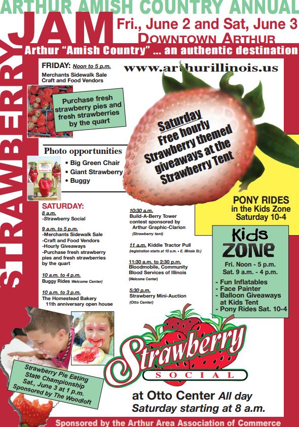 Strawberry Jam Coming to Arthur Tomorrow & Saturday