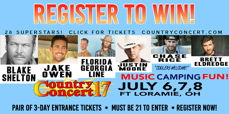 Country Concert 2017 - Register to Win