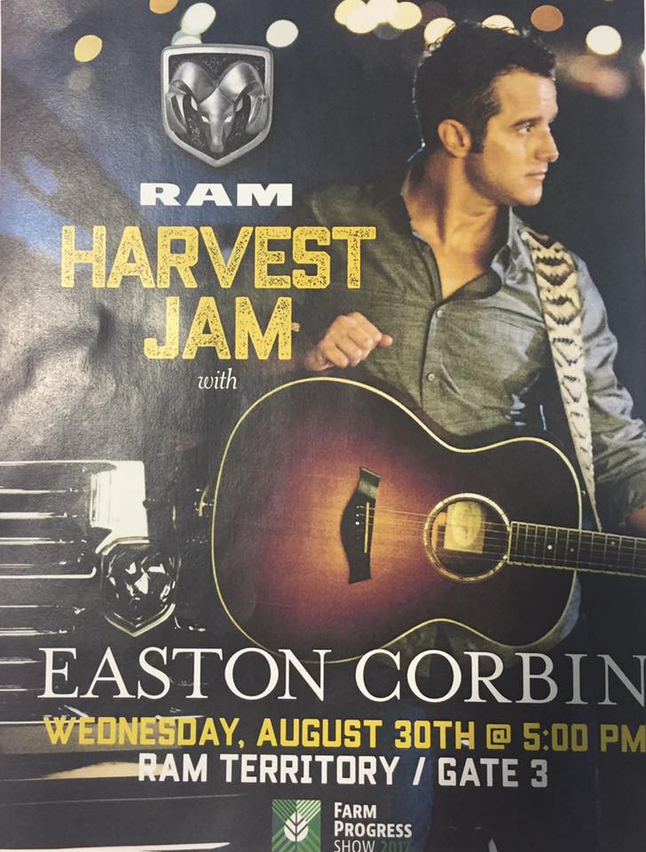 Easton Corbin Free Concert at Farm Progress Show