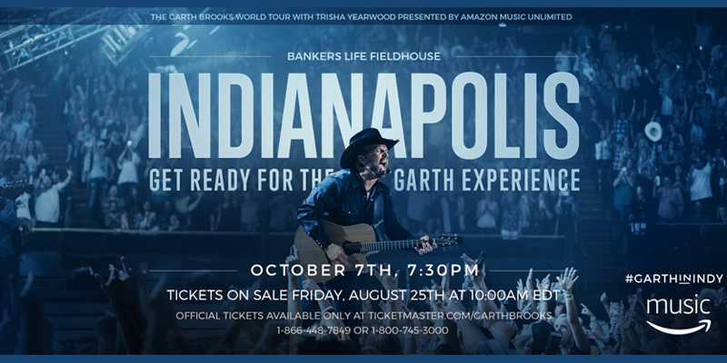 Garth Brooks to Perform in Indianapolis