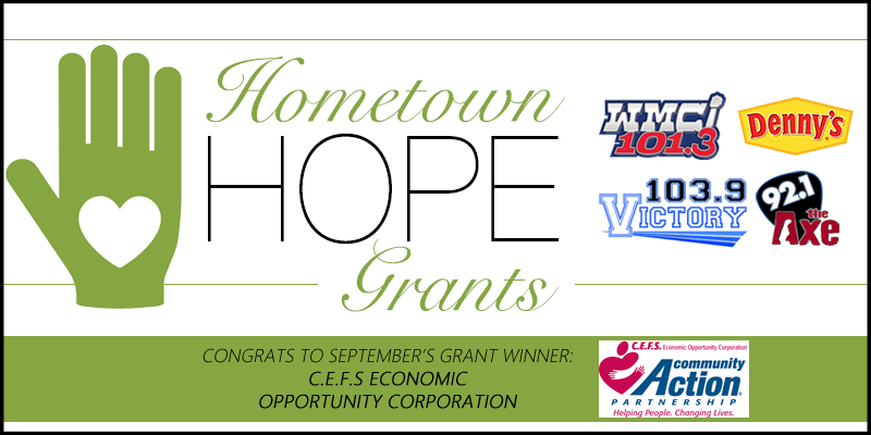 Hometown HOPE Grant - September Winner