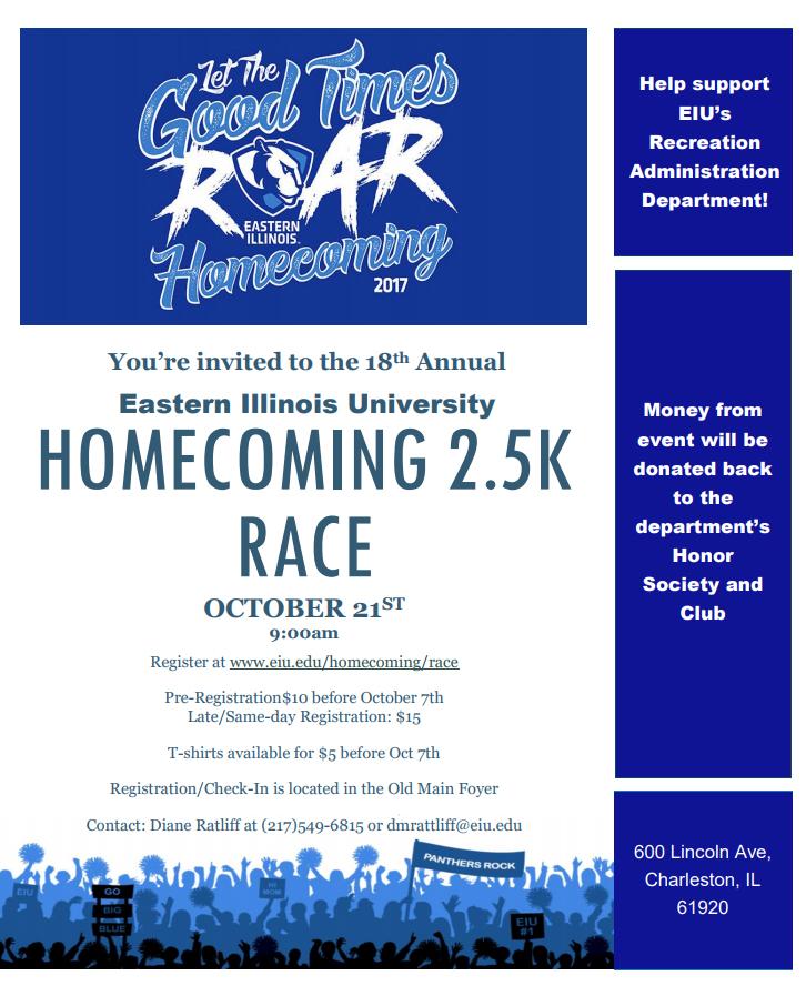 EIU Homecoming 2.5K Race