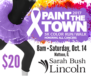 Sarah Bush Lincoln's annual Paint the Town 5K Color Run