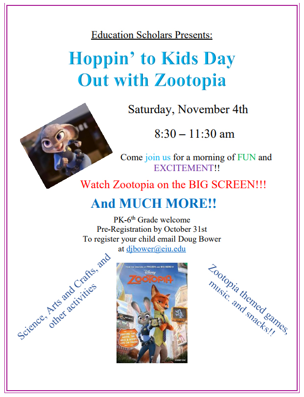 Kids Day Out Fall 2017