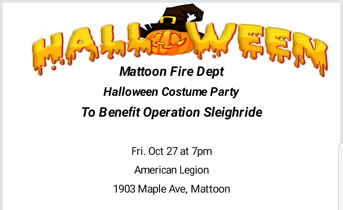 Mattoon Fire Halloween Costume Party