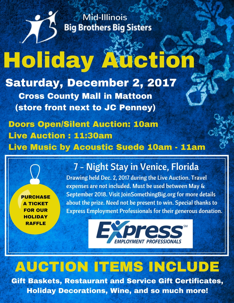 Big Brothers Big Sisters Holiday Auction a Success
