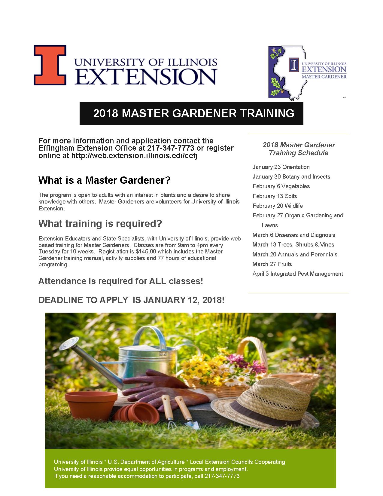 Master Gardener Training In Effingham