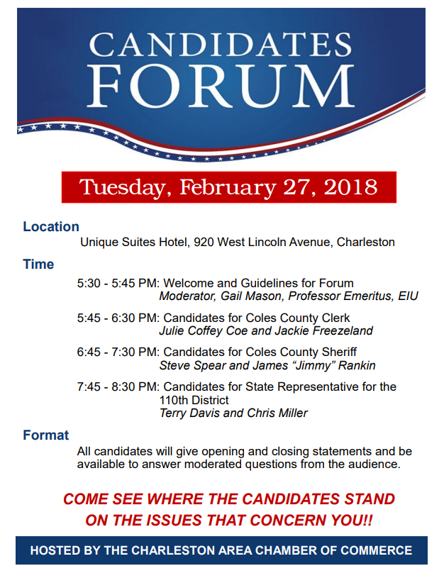 Candidate Forum Hosted by Charleston Chamber of Commerce