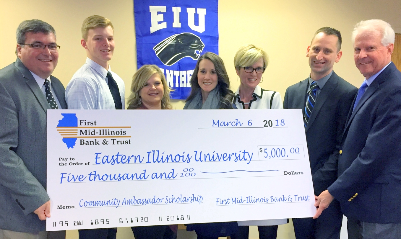 Local students to benefit from $5K EIU scholarship gift from First Mid-Illinois Bank & Trust