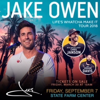 Jake Owen Performing at State Farm Center