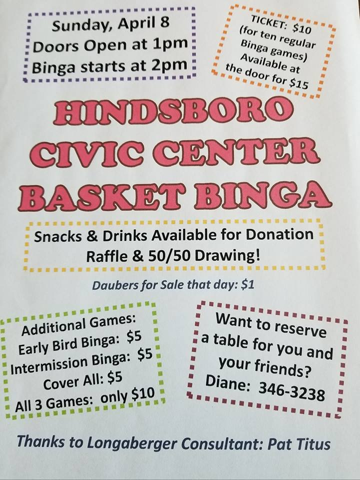Longaberger Basket Binga on Sunday