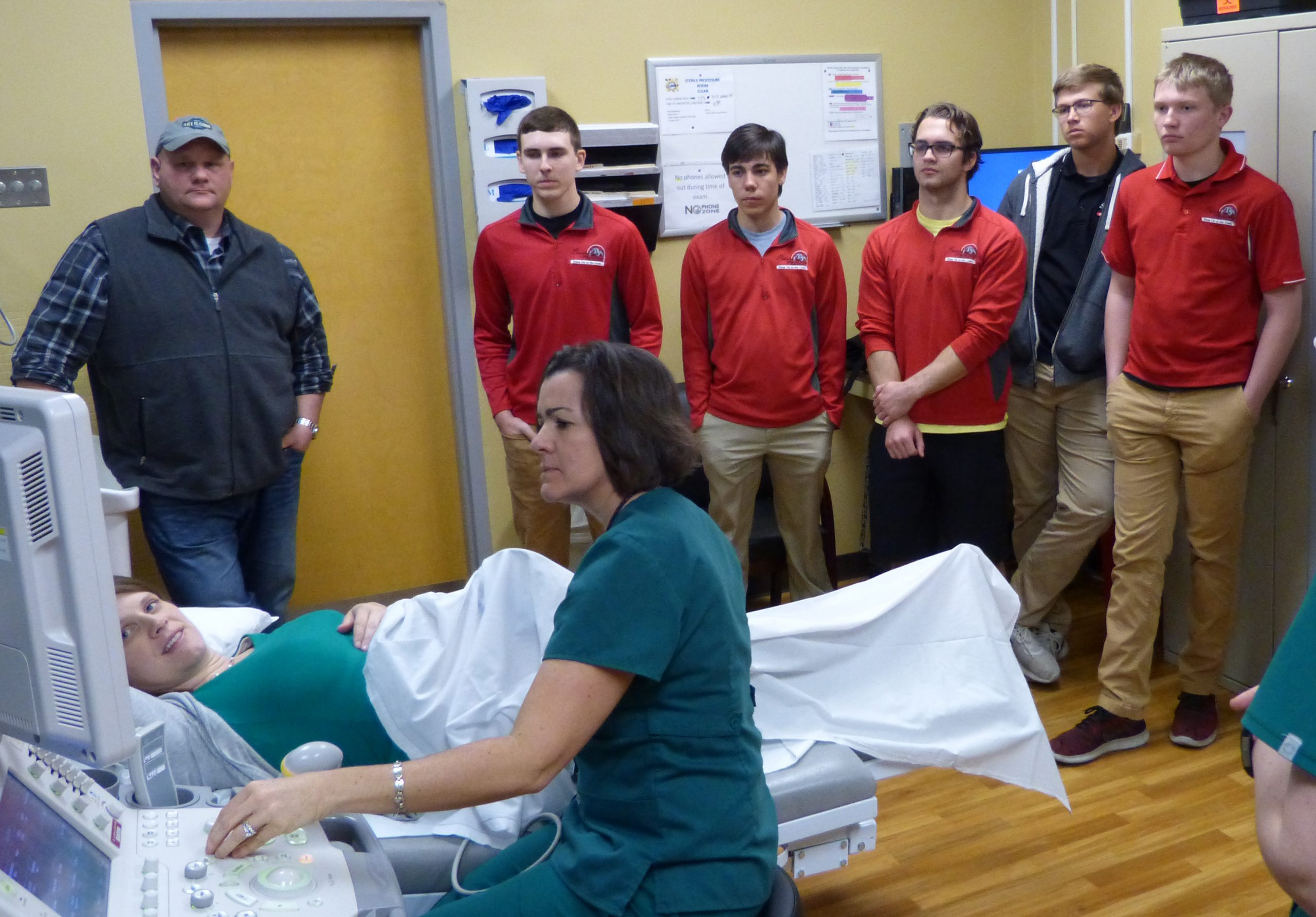 """HSHS St. Anthony's Memorial Hospital partners with St. Anthony High School to offer students a """"Window to the Womb"""""""
