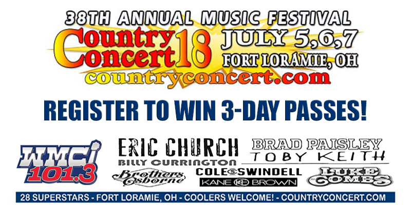Country Concert 2018 - Register to Win