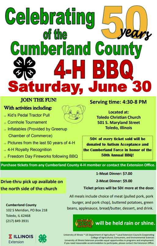 50th Annual Cumberland County 4-H Barbeque