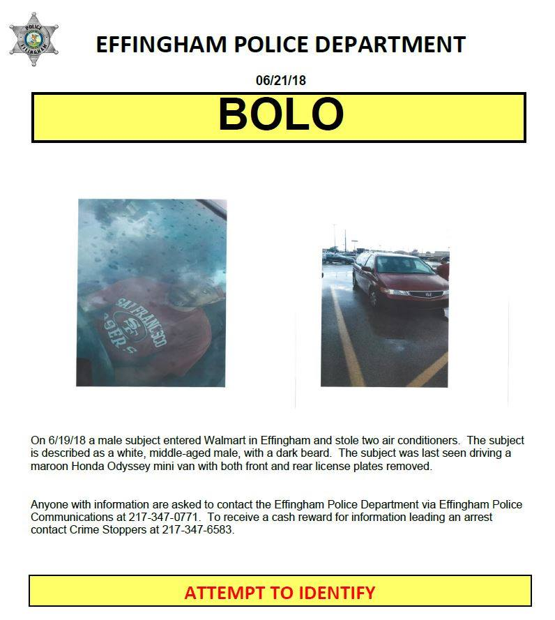 Effingham Police Department Asking for Your Help