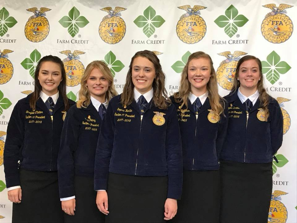 New Illinois FFA Major State Officers all Women