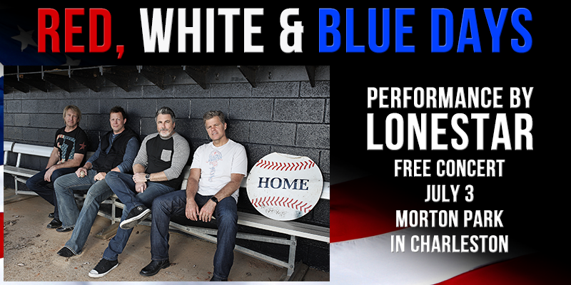 Lonestar to play Red, White and Blue Days