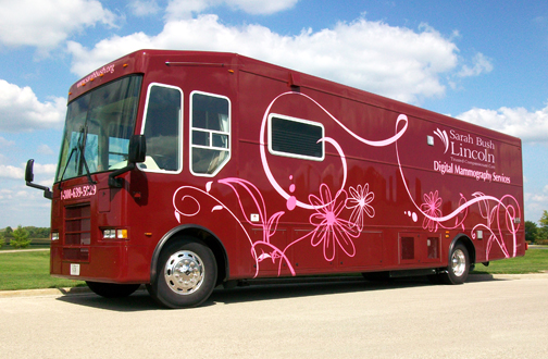 Sarah Bush Lincoln Mobile Mammography Unit on the Road in January