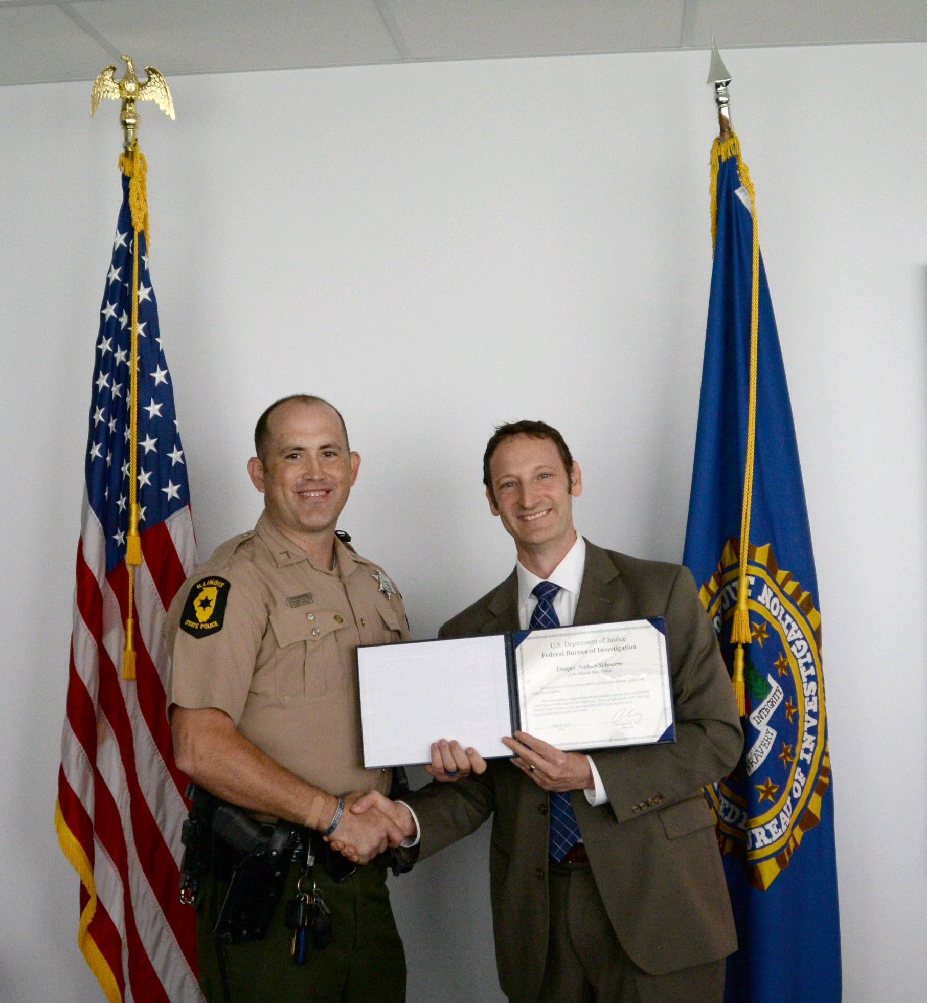 ISP Trooper Schnarre Commended by FBI