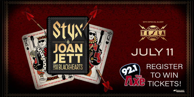 Register to Win: Styx and Joan Jett & The Blackhearts Tickets