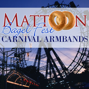 Mattoon Bagelfest Carnival Armbands on Sale