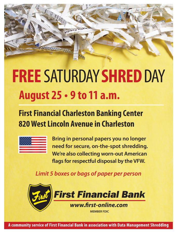 Free Saturday Shred Day