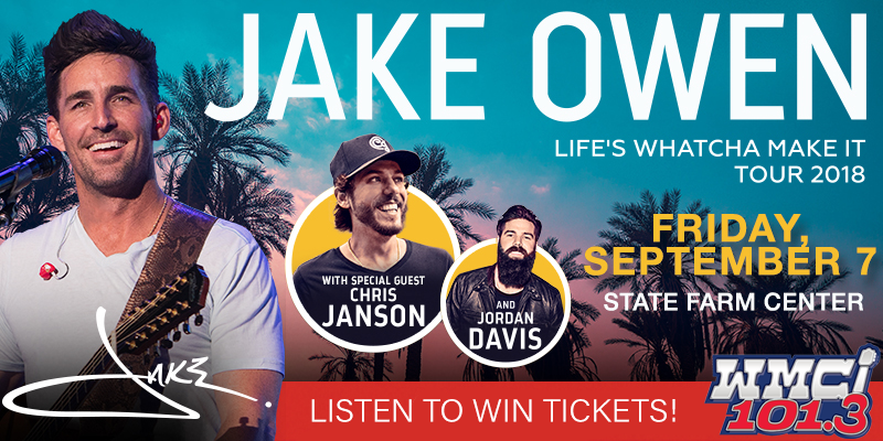 Listen to Win Jake Owen Tickets