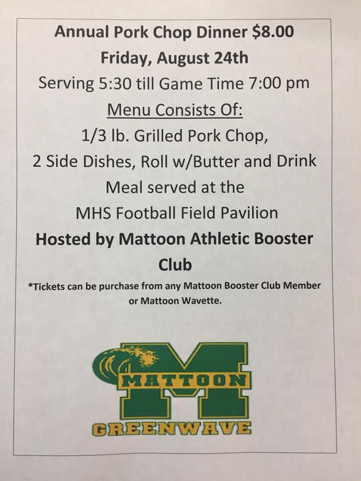 Mattoon Annual Pork Chop Dinner