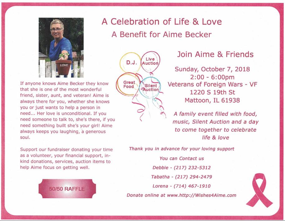 Benefit for Aime Becker