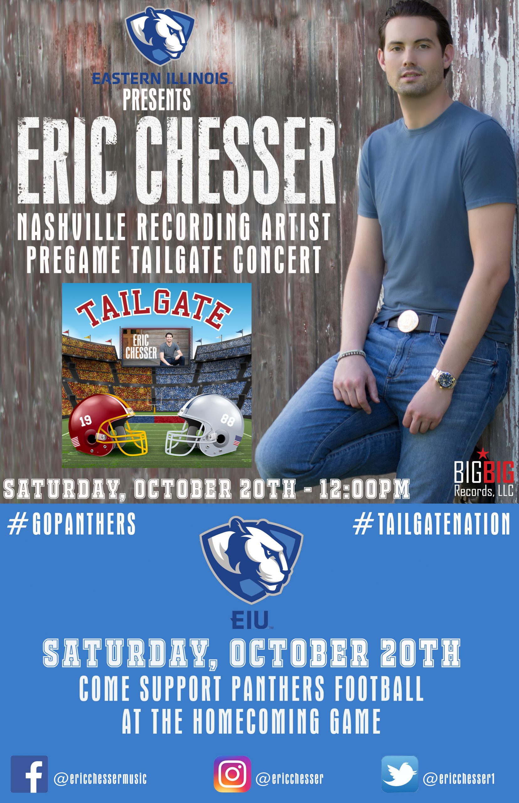 Eric Chesser to Perform at EIU Tailgate Party