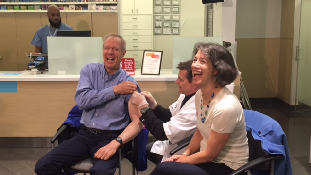 Gov. Rauner and First Lady get flu shots, encourage Illinoisans to protect their health