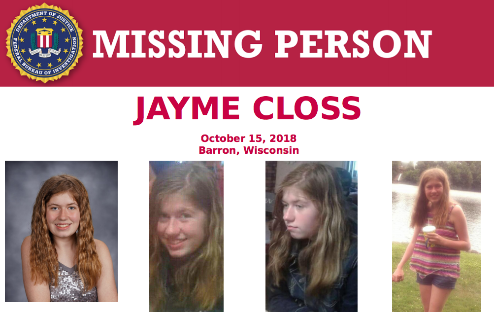 FBI Asking for Help to Find Missing 13 Year Old Girl from Wisconsin