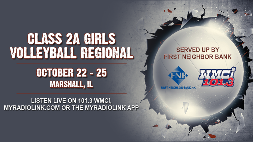Regional Volleyball from Marshall on 101.3 WMCI