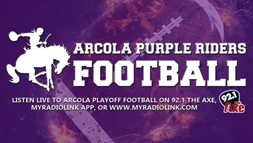 Arcola Purple Riders on 92.1 the Axe