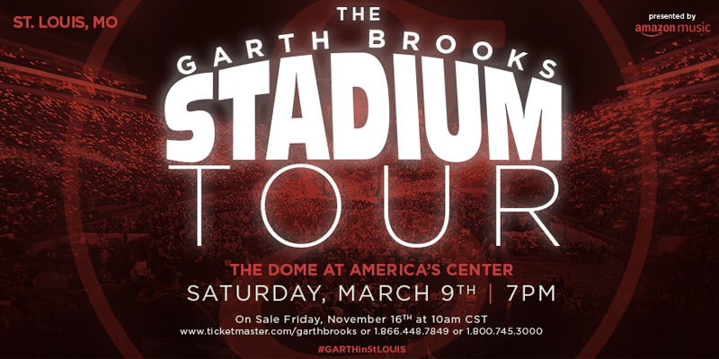 Garth Brooks to Perform in St. Louis