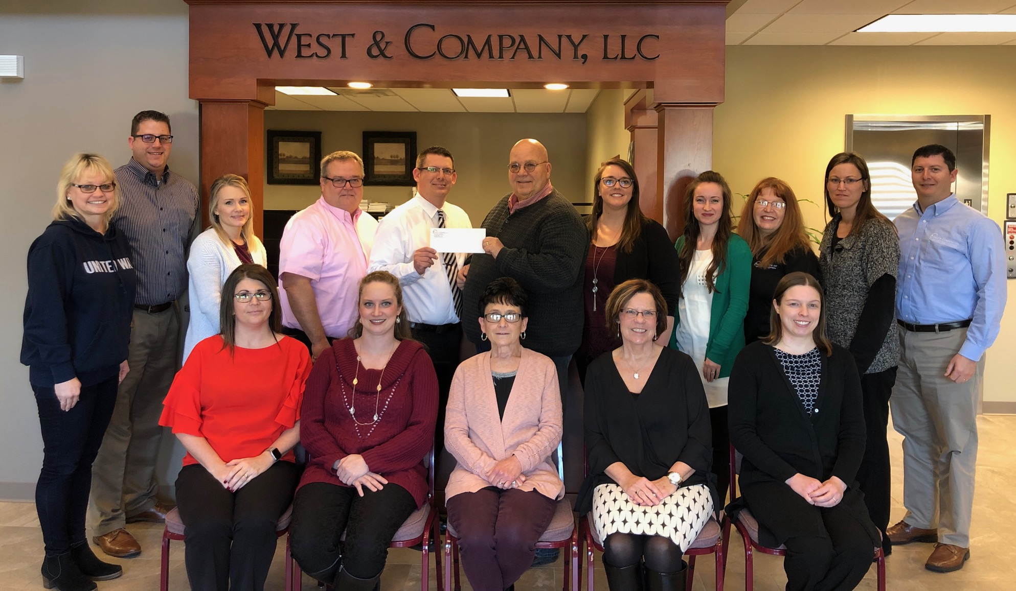 West & Company donates to United Way of Effingham County