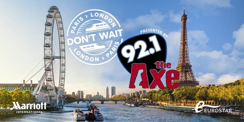 92 1 The Axe London/Paris Sweepstakes | MyRadioLink com