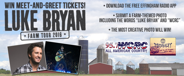 Luke bryan giveaway photo contest instructions effingham radio 957 wcrc and mcmahon meats have your chance to meet luke bryan all you have to do is follow these steps m4hsunfo