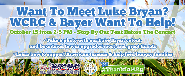 Luke bryan meet and greet tickets from wcrc bayer effingham radio luke bryan meet and greet tickets from wcrc bayer m4hsunfo