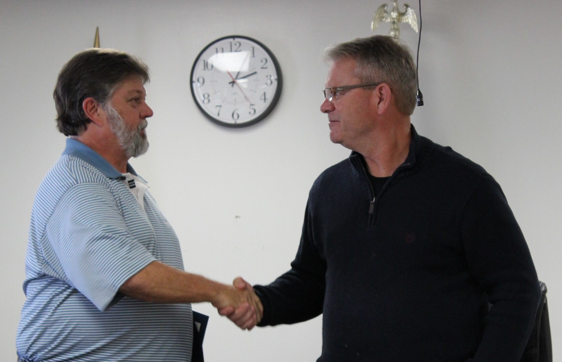 DePoister Congratulated for Service on County Board, Perry Sworn In