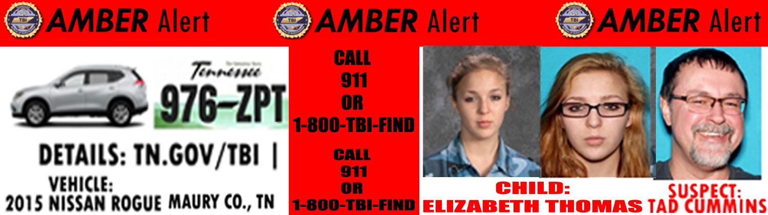 Amber Alert Issued for 15 Year Old Tennessee Female