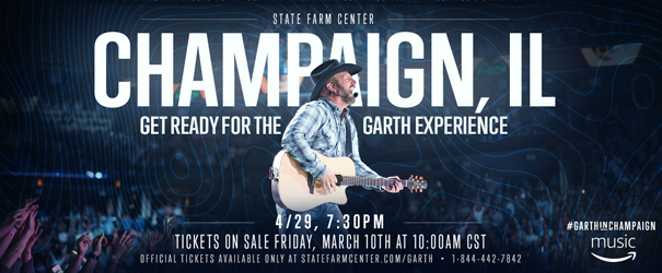 Garth Brooks to Perform in Champaign!