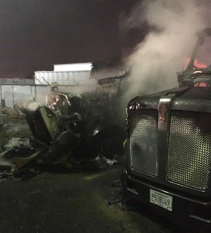 Fire Causes $325,000 in Damage at Hetzel Overland Transport