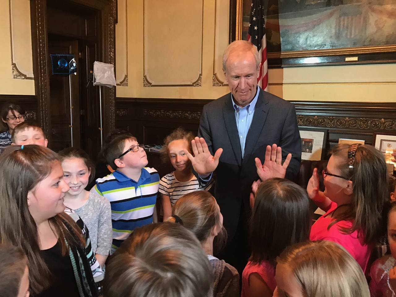 Governor Rauner Speaks With Students Across Illinois