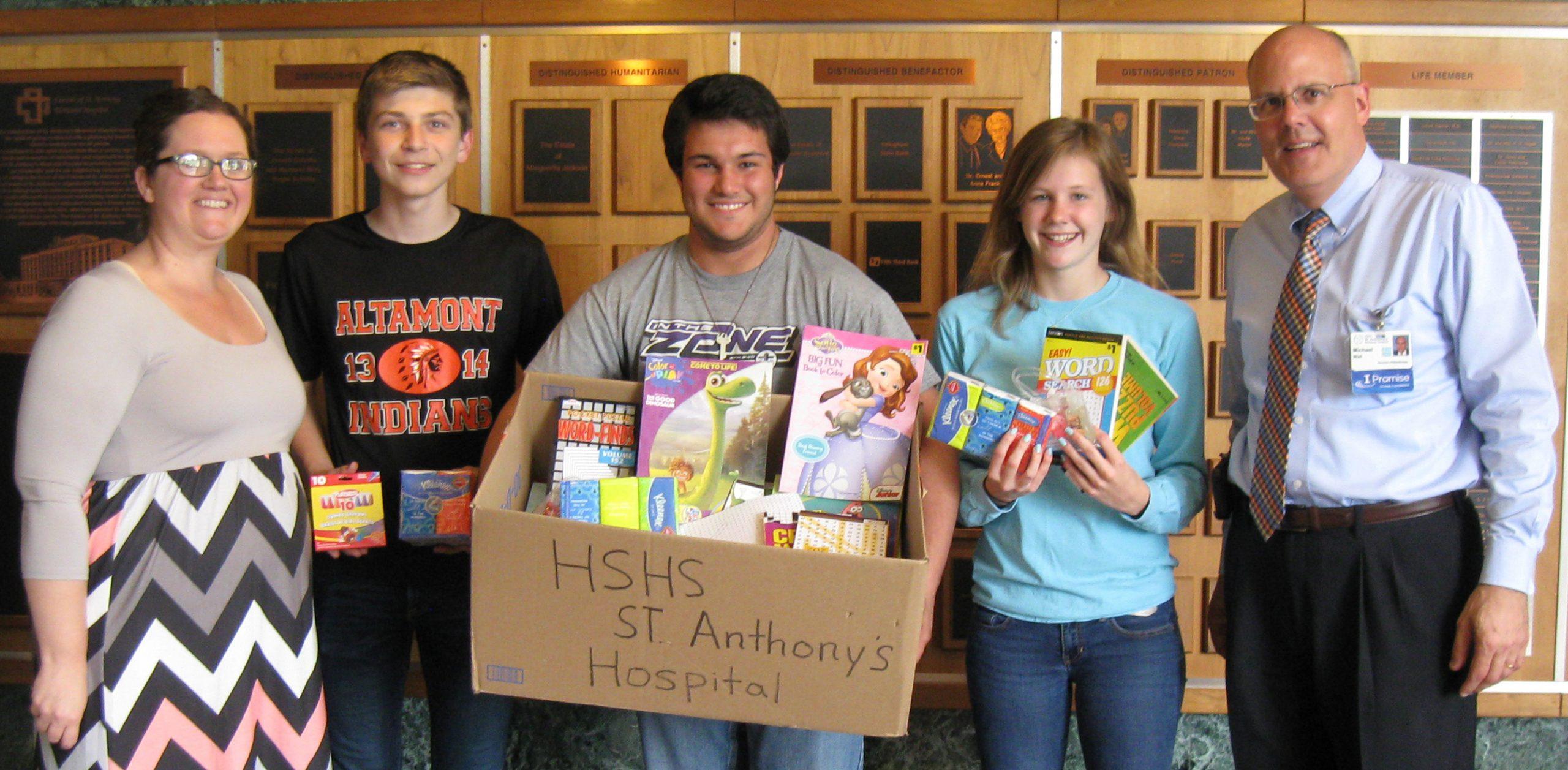 Altamont Student Council Donates Items to Pediatric Patients