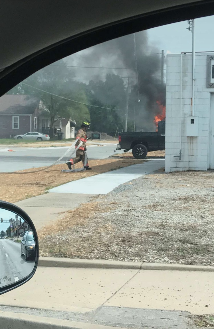 Effingham Fire Department Battles Vehicle Fire