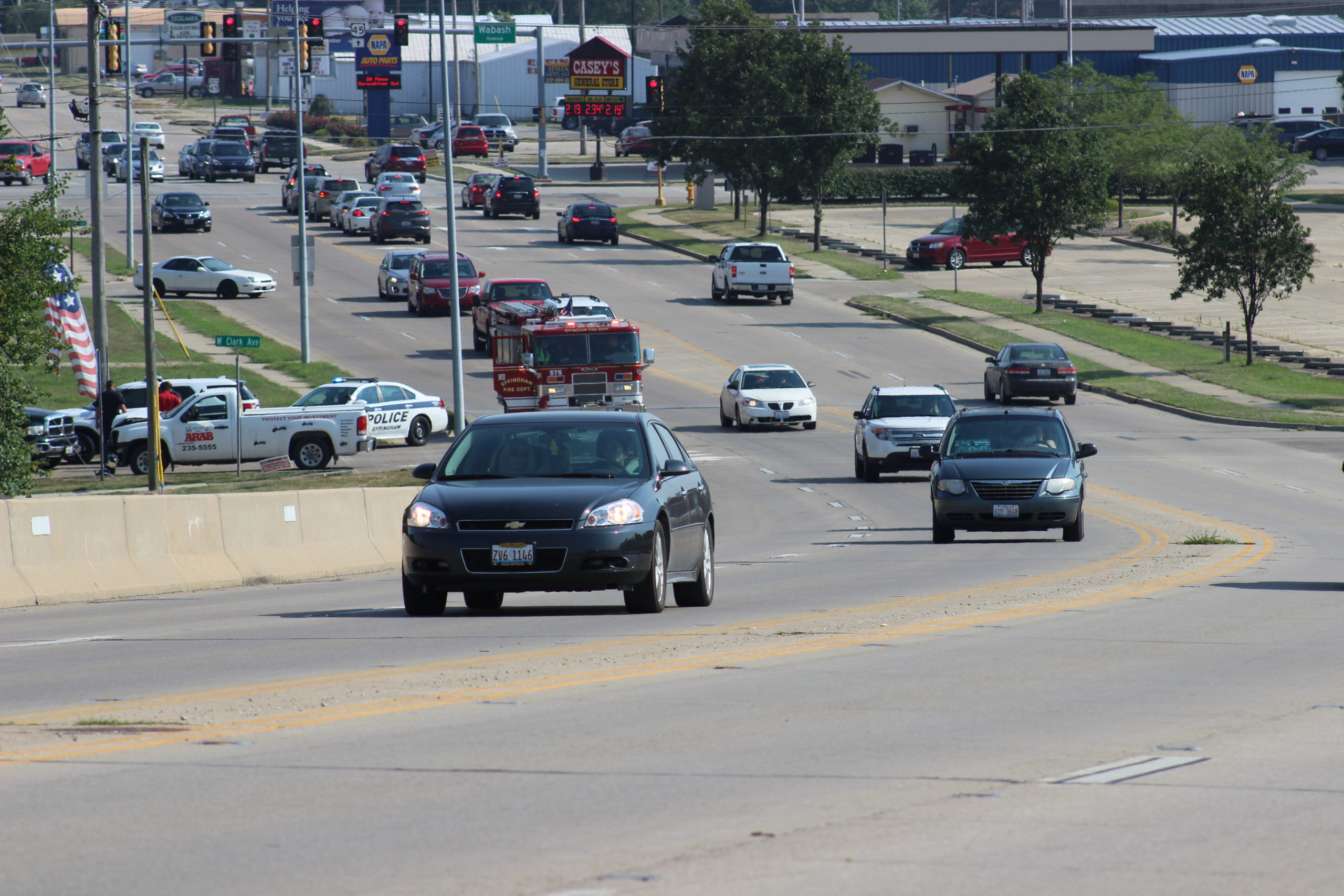 Effingham Fire Department Responds to Accident at Banker and Clark