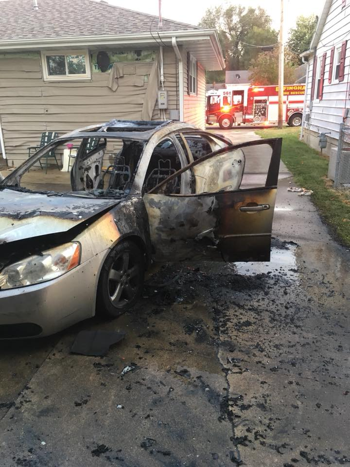 Car and Houses Damaged in Weekend Vehicle Fire