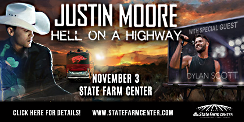 Justin Moore to Perform in Champaign