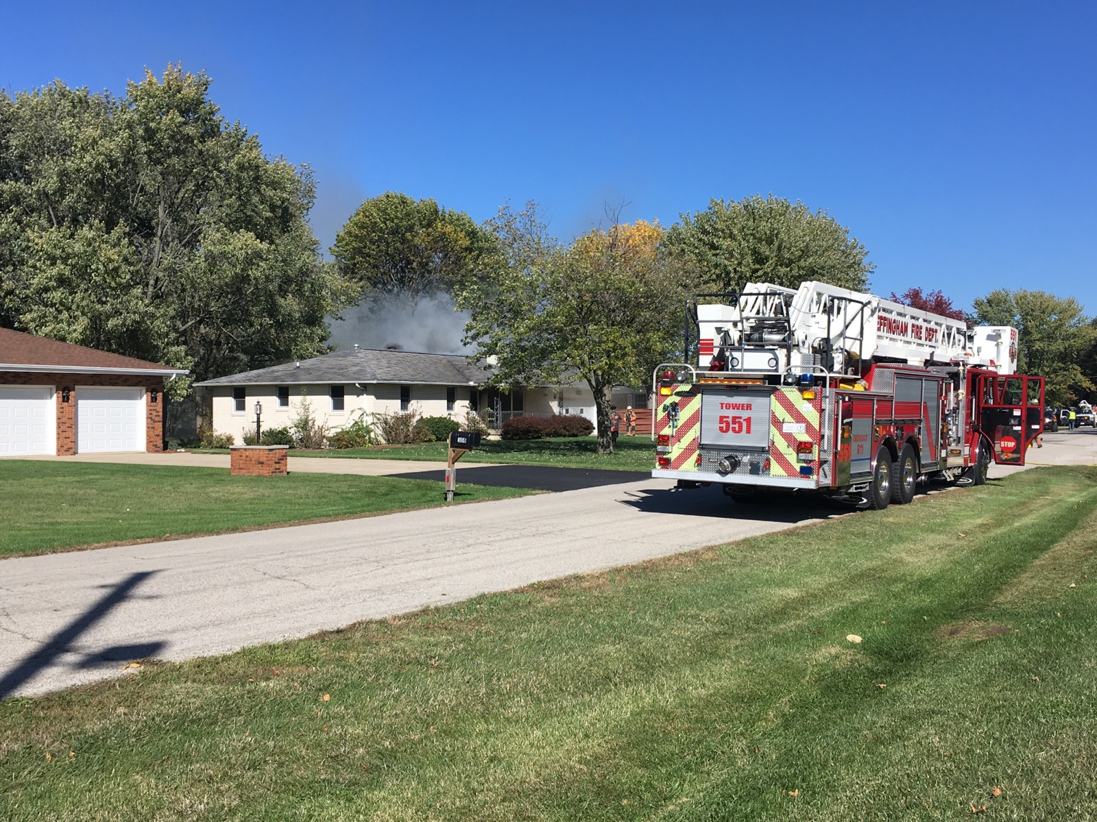House on Hawthorne Drive Damaged by Fire Thursday